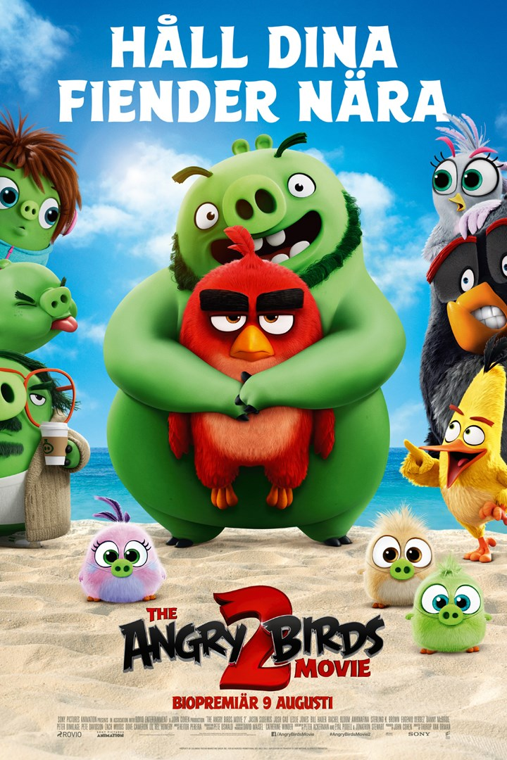 Poster för The Angry Birds Movie 2 som går på bio i Landskrona.